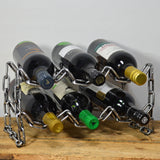 Chain 6 Bottle Metal Wine Rack - Prezents.com