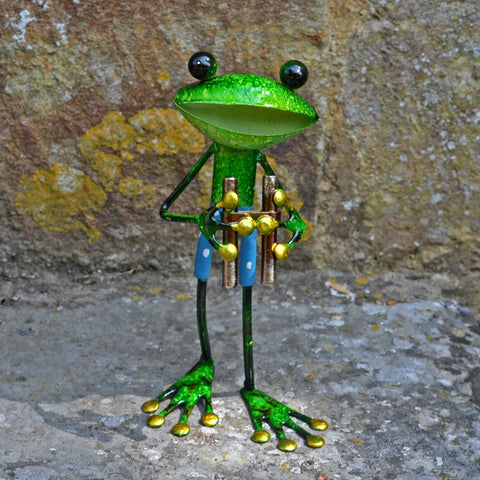 Green Frog with Binoculars - Prezents.com