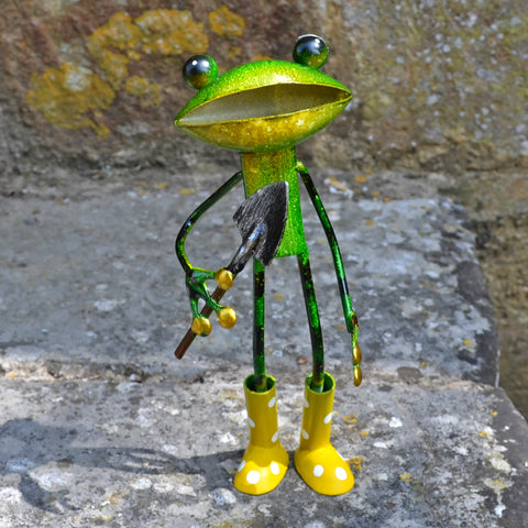Green Frog With Trowel & Wellies - Prezents.com
