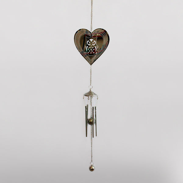 Owl in Heart Suncatcher & Wind Chime