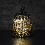 Moroccan Style Bronze Glass LED Lantern