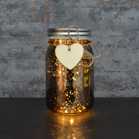 LED Firefly Jar Bronze