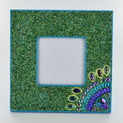 Peacock Picture Frame- Green - Prezents.com