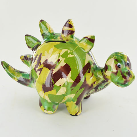 Pomme Pidou Zorc the Dinosaur Animal Money Bank - Camo - Prezents.com