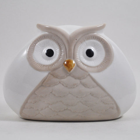 Pair of Wide Ceramic Owls - Prezents  - 1