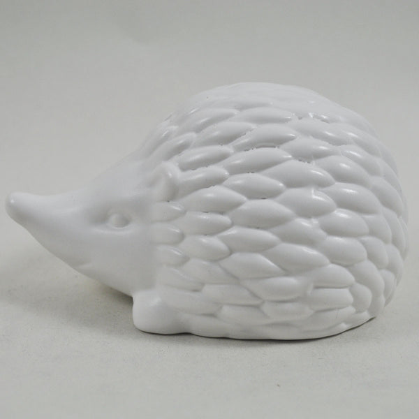 Pair of White Ceramic Hedgehogs - Prezents  - 1