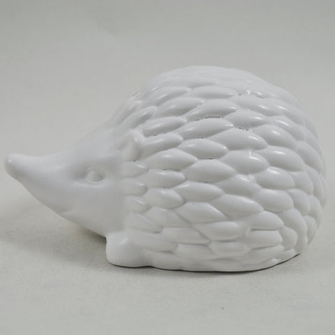 Pair of White Ceramic Hedgehogs - Prezents.com