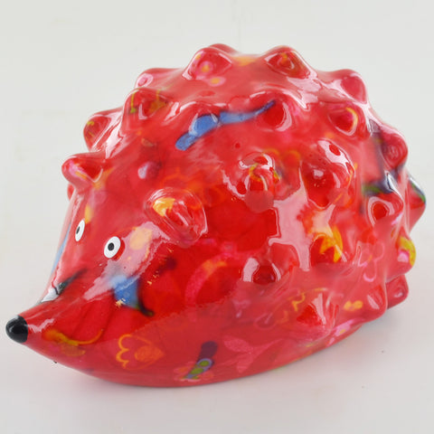 Pomme Pidou Spike The Hedgehog Animal Money Bank - Red Patterned