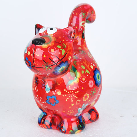 Pomme Pidou Dorothy Cat Animal Money Bank - Red - Prezents.com