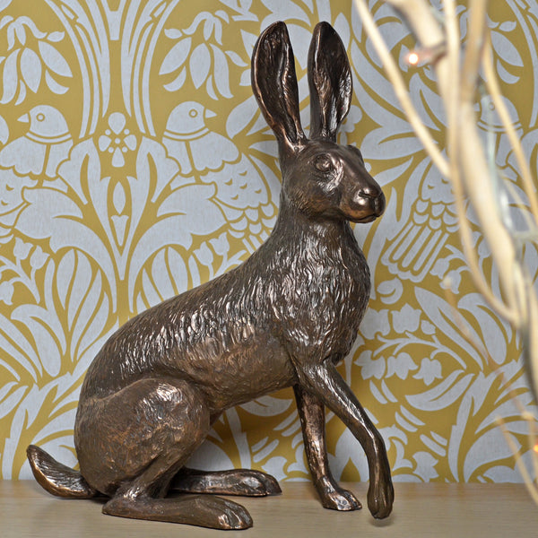Holly Hare Cold Cast Bronze Sculpture by Harriet Glen