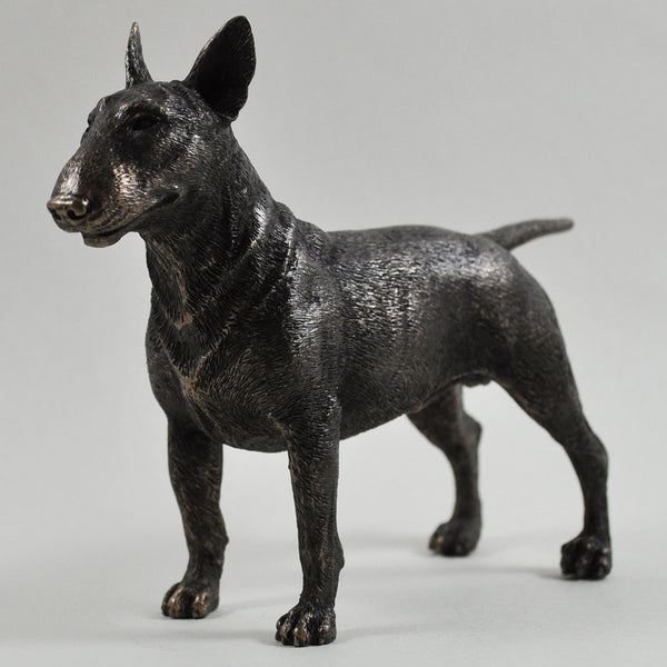 Bull Terrier Cold Cast Bronze Sculpture - Prezents  - 1