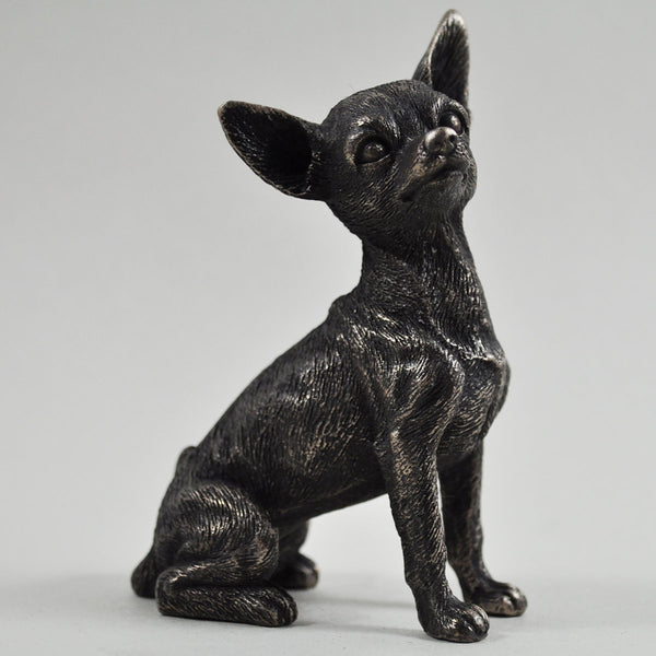 Chihuahua Cold Cast Bronze Sculpture - Prezents.com