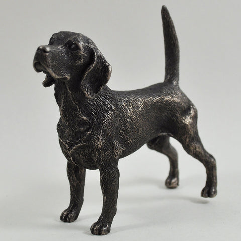 Beagle Cold Cast Bronze Sculpture - Prezents  - 1