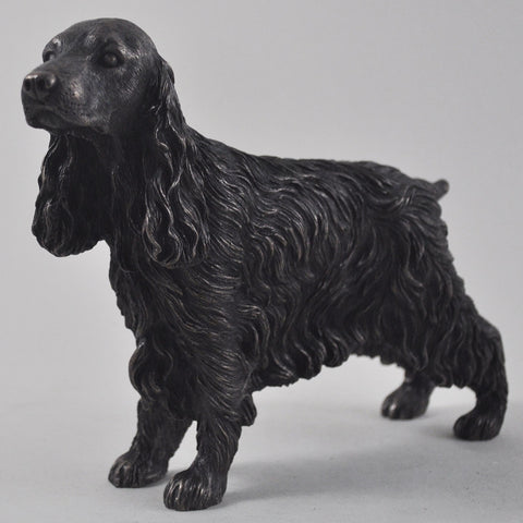 Cocker Spaniel Cold Cast Bronze Sculpture - Prezents  - 1