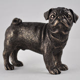 Pug Cold Cast Bronze Sculpture - Prezents.com