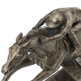 Champion Hurdler Cold Cast Bronze Horse Sculpture by Harriet Glen - Prezents.com
