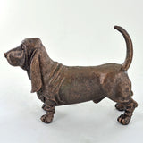 Basset Hound Cold Cast Bronze Sculpture - Prezents.com