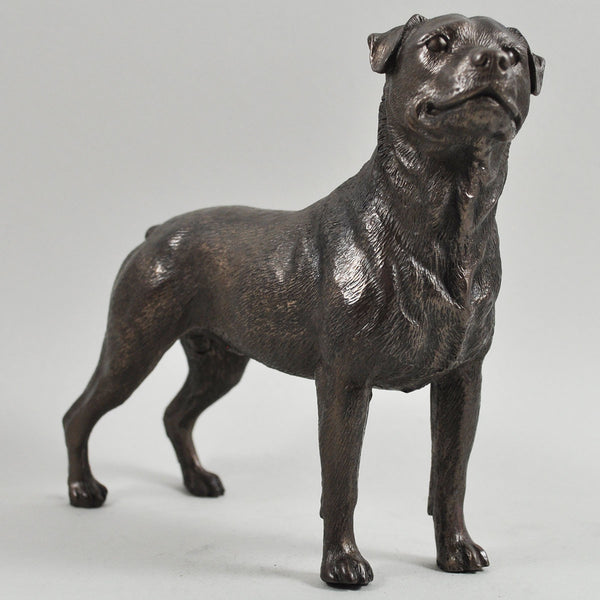 Rottweiler Cold Cast Bronze Sculpture - Prezents.com