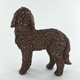 Cold Cast Bronze Doodle Dog Cockapoo Sculpture - Prezents.com