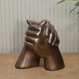 Cold Cast Bronze Marriage Hands Sculpture - Prezents.com