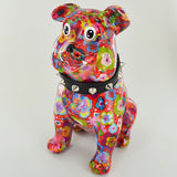 Pomme Pidou Buddy the Bulldog Animal Money Bank - Red Flowers