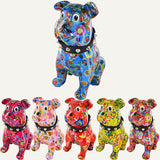 Pomme Pidou Buddy the Bulldog Animal Money Bank - Red Flowers - Prezents.com