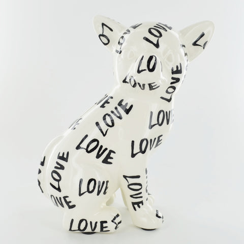 Pomme Pidou Nanou the Chihuahua Animal Money Bank - Black and White Love