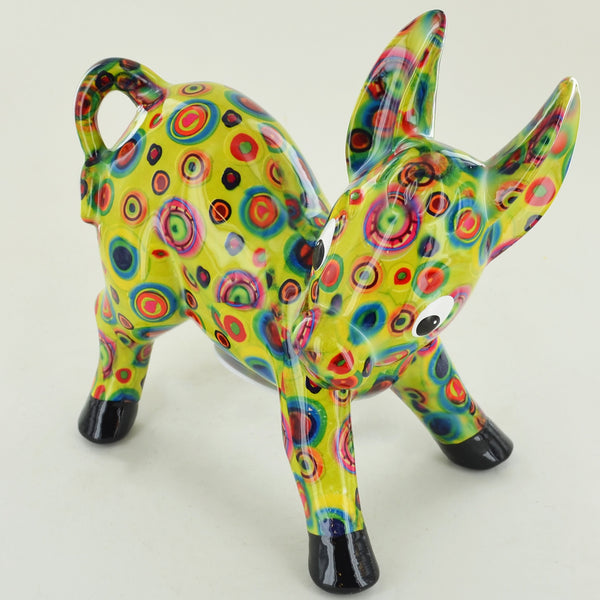 Pomme Pidou Iggy the Donkey Animal Money Bank - Green Circles