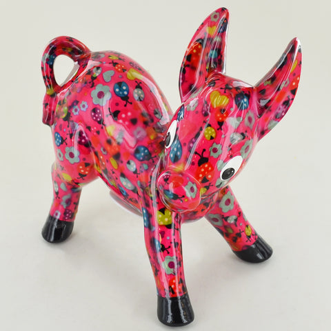 Pomme Pidou Iggy the Donkey Animal Money Bank - Pink Ladybirds