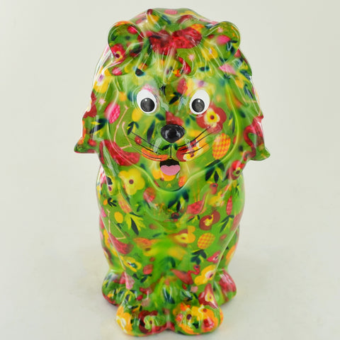 Pomme Pidou Leo the Lion Animal Money Bank - Green