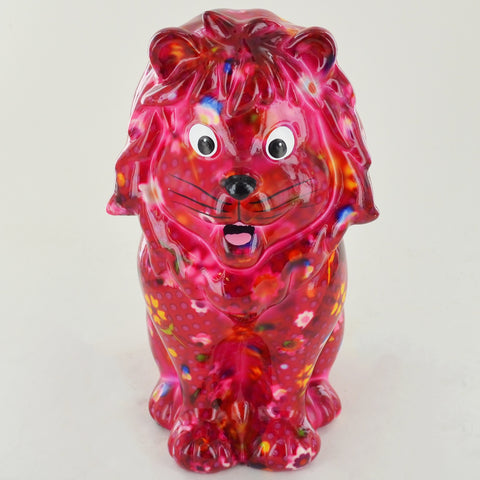 Pomme Pidou Leo the Lion Animal Money Bank - Dark Pink