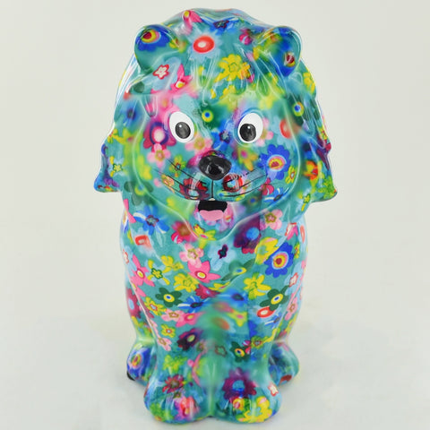 Pomme Pidou Leo the Lion Animal Money Bank - Blue