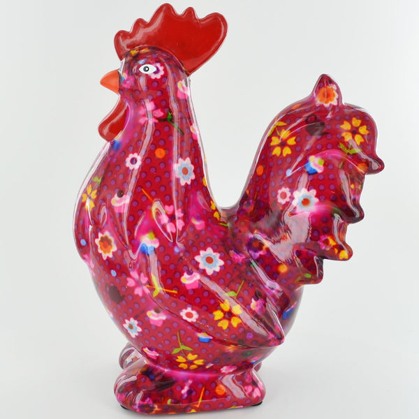 Pomme Pidou Maurice the Rooster Animal Money Bank - Pink Cupcakes - Prezents.com