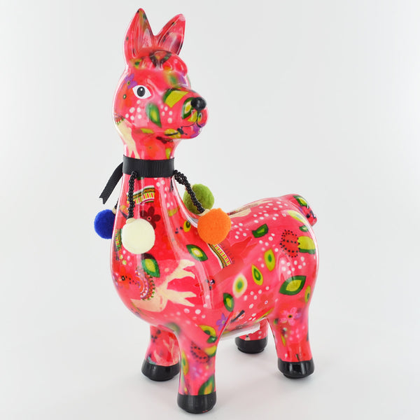 Pomme Pidou Pedro The Llama Animal Money Bank - Pink Llamas - Prezents.com