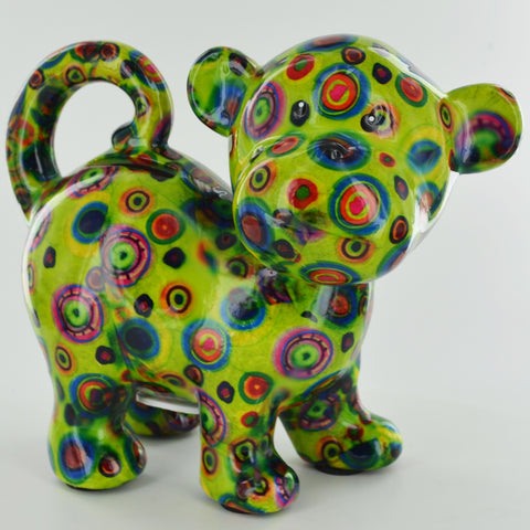 Pomme Pidou Bubbles the Monkey Animal Money Bank - Green Circles - Prezents.com