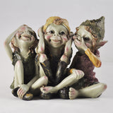 See, Hear, Speak No Evil Pixie Sculpture by Tony Fisher - Prezents  - 1