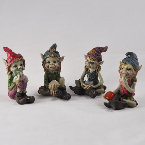 Set of 4 Pixie Children Figures