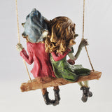 Pixie Couple on a Swing Sculpture by Tony Fisher - Prezents  - 5