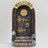 Fairy Door - 'Welcome' Stonework Dark Green Door - Prezents.com