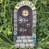 Fairy Door - 'Welcome' Stonework - Prezents.com