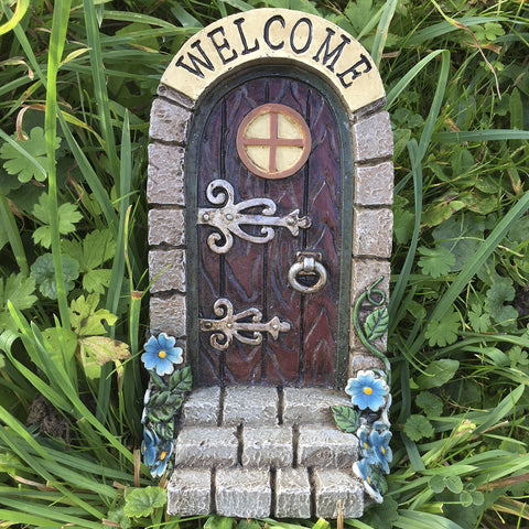 'Welcome' Stonework Fairy Door - Prezents  - 2