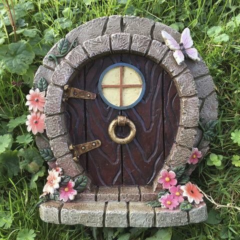 Large Round Homely Hobbit Style Fairy Door - Prezents  - 2