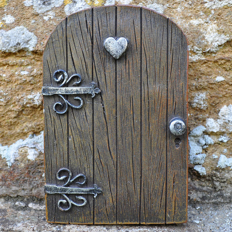 Fairy Door - Wooden Heart - Prezents  - 2