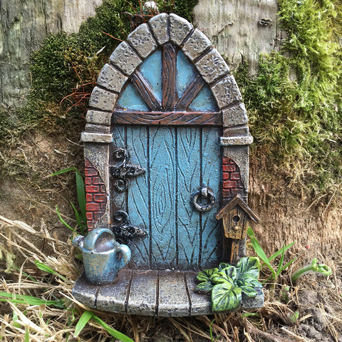Mini Fairy Door - Blue Archway - Prezents.com