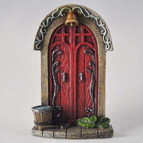 Mini Red Fairy Door - Double Door and Bell - Prezents  - 1