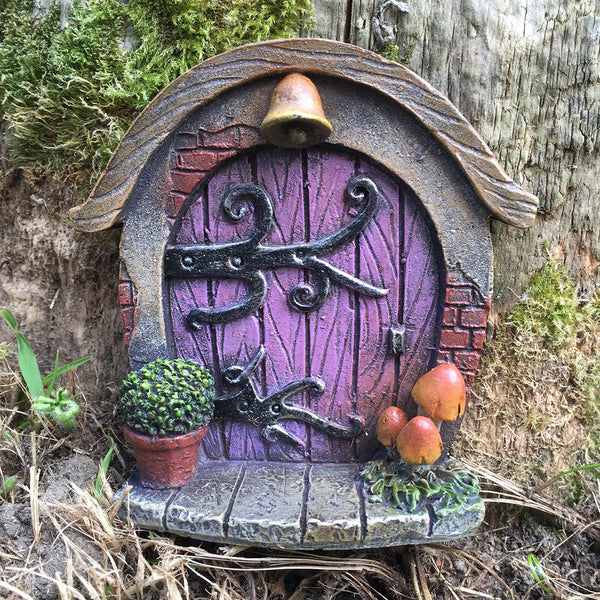 Mini Fairy Door - Pink Hobbit Shire - Prezents.com