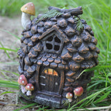 Fairy House - Pine Cone with Lights