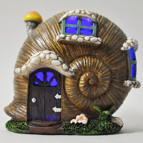 Mystical Snail Shell Fairy House with Lights - Prezents  - 1