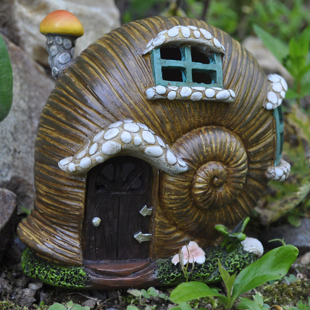 Fairy House Snail Shell With Lights Prezents