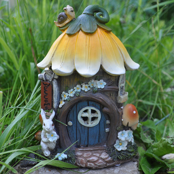 Fairy House - Floral Animal Cottage with Lights - Prezents.com